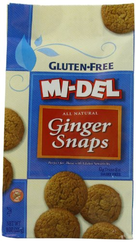 Mi-Del Gluten Free Cookies, Natural Ginger Snaps, 8 Ounce (Pack of (Mi Del Ginger Snaps)