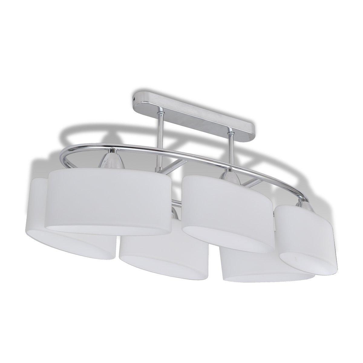 Lampada da soffitto con diffusori di vetro ellissoidali per 4 ...
