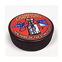 AJ Sports World GILB10305A Greg Gilbert New York Rangers Autographed 1994 Stanley Cup Puck