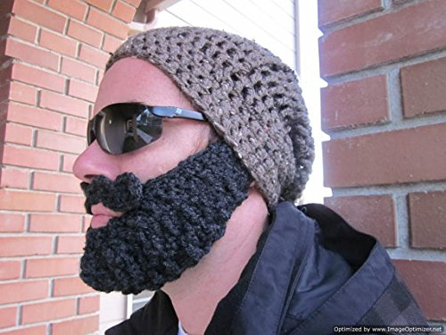- Adult Ultimate Barley Bearded Beanie Slouch with Charcoal Beard