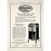 1920 Ad Vintage Mandel Phonograph Cabinet Record Player Trademark Antique GF5 - Original Print Ad