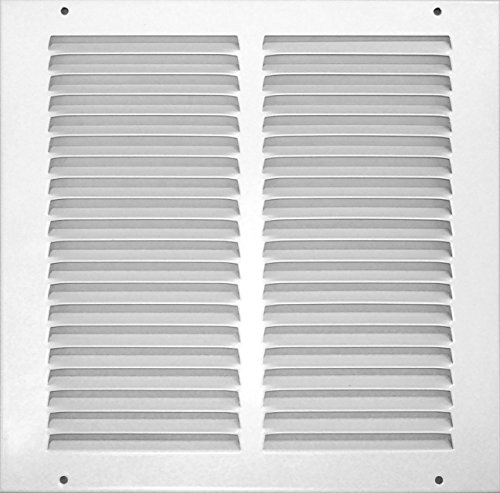 Accord ABRGWH1010 Return Grille with 1/2-Inch Fin Louvered, 10-Inch x 10-Inch(Duct Opening Measurements), White ()