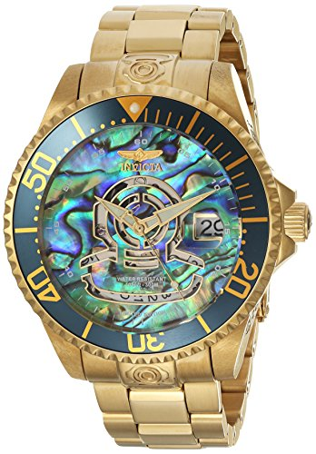 Invicta Men's 'Pro Diver' Automatic Stainless Steel Diving Watch, Color:Gold-Toned (Model: 23454) ()