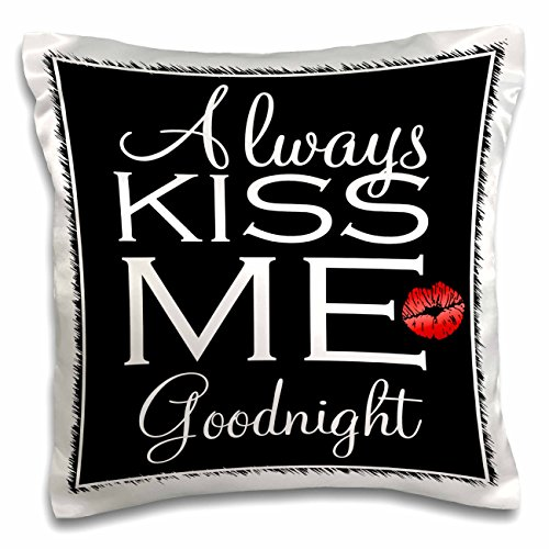 3dRose Goodnight Kissing Red Pillow pc 211117 1