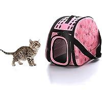 bromrefulgenc Pet Travel Bag for Dog & Cat,Outdoor Portable Folding Pet Dog Carrier Breathable Tote Shoulder Bag