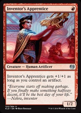Magic: the Gathering - Inventor39;s Apprentice (120/264) - Kaladesh - (Apprentice Foil)