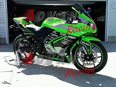 Moto Onfire Fairings Kits Fit For 2008 2012 Kawasaki Ninja 250r Ex250 08 09 10 11 12green Black