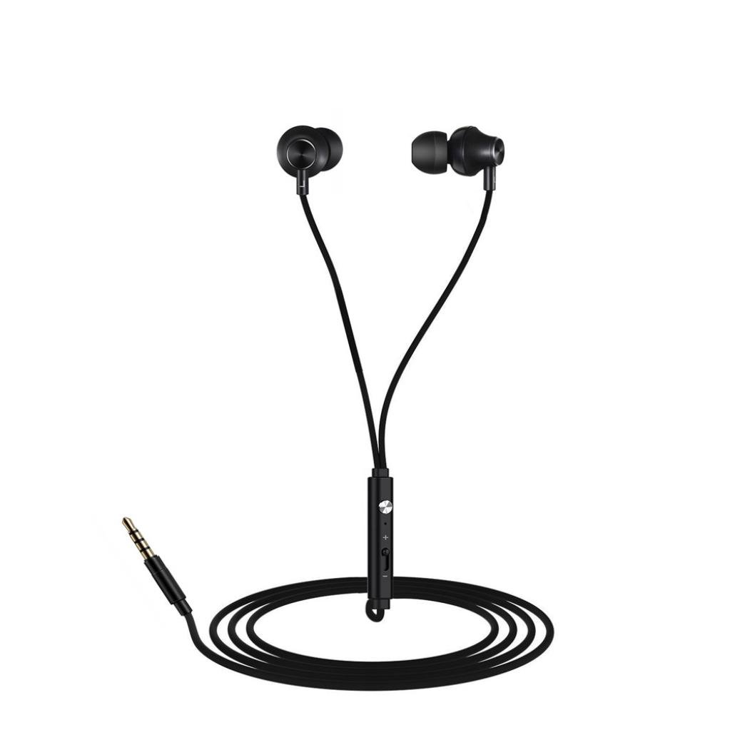 Tuscom 3 Set Ear Buds(Different Sizes),Wired Headphones, In-Ear Headphone with Mic, Wired Headset Earbuds Stereo & Remote Control Noise Reduction for Sports Running (Black)