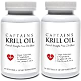 Captains Krill Oil (2-pack): 100% Pure Flash Frigid Pressed Southern Antarctic Krill Oil, 60 TinyGels (2)