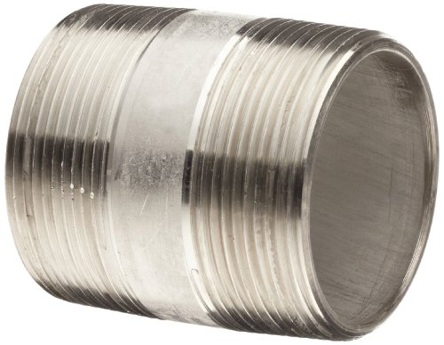 Stainless Steel 304/304L Pipe Fitting, Nipple, Schedule 40 Seamless, 1