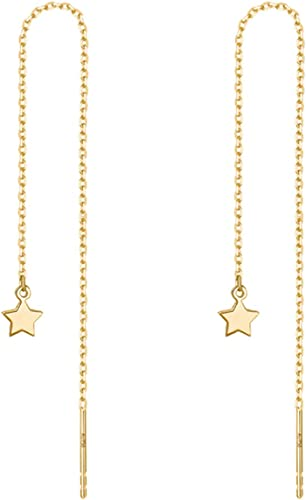 For Lovely Ear Tassel Line 1 Pair Metal Dangle Earrings Drop Long Simple