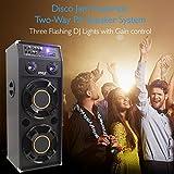 Portable DJ Dance Speaker System - Two-Way PA