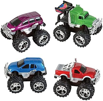 Amazon Com Dollaritemdirect 5 Inches Friction 4 X 4 Mini Monster Truck Case Of 48 Toys Games