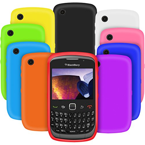 (G-HUB® - 10-in-1 Silicone Cases for BLACKBERRY CURVE 8520 SmartPhone - Multi Pack of 10 Protective Gel Case Phone Covers in ASSORTED COLOURS (Each Flexible Skin Cover included in this pack is of a Different Colour and Custom Designed to fit this specific model of Smart Phone))