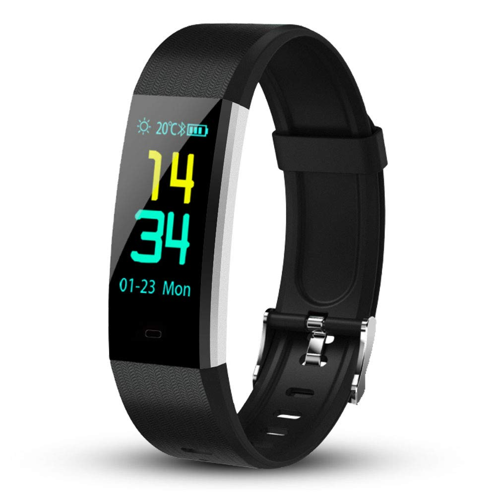 jianduan Fitness Tracker, Heart Rate Monitor Color Touch Screen Smart Watch/Bracelet with Sleep Monitor, Step Counter, Message Reminder, IP67 Waterproof Activity.