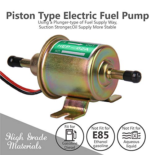 12V Electric Fuel Pump 2.5-4 PSI For Universal REF# E8012S  EP12S FD0002