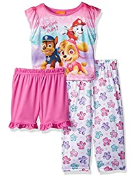 Nickelodeon girls Toddler Girls Paw Patrol 3-piece Pajama Set