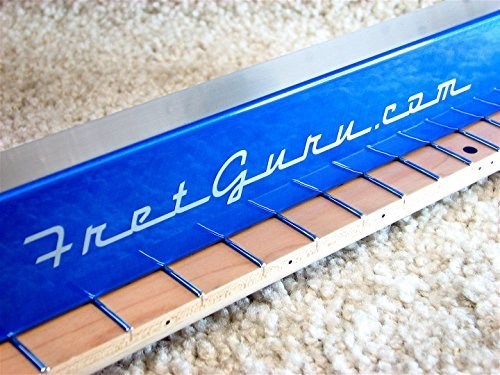 FretGuru Precision Sanding Beam Fret Leveler Leveling File Pro Luthier Guitar Tech Tool includes 100, 240, 320 sandpaper [FINALLY BACK IN STOCK - FRESH BATCH JUST ARRIVED] by FretGuru