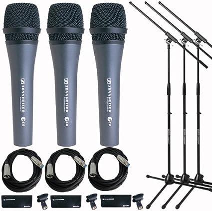 Sennheiser E 835 dinámico vocal Micrófono 3 Pack + Cable: Amazon ...