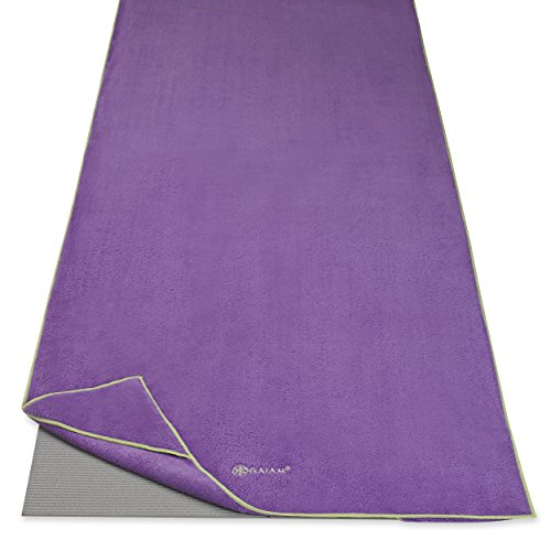 Gaiam Stay Put Yoga Towel Mat Size Yoga Mat Towel (Fits Over Standard Size Yoga Mat - 68
