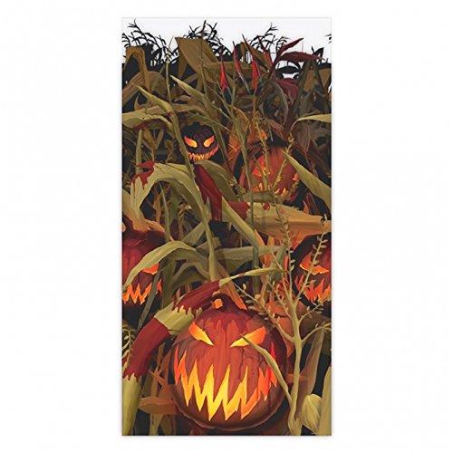 Amscan Field of Screams Halloween Party Spooky Pumpkin Patch Scene Setter Roll Decoration, Orange/Black, 48