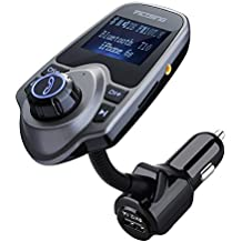 VicTsing Bluetooth FM Transmitter 1.44 Inch