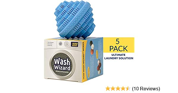 Amazon Com Wash Wizard Laundry Ball 5 Pack Eco Friendly