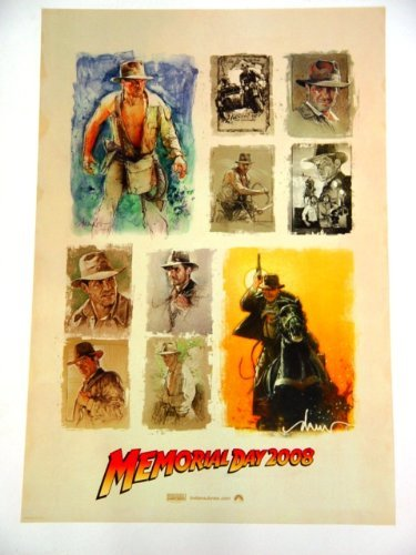 Indiana Jones Promotional Poster For Indiana Jones And The Kingdom Of The Crystal Skull With Harrison Ford Artwork 11X17 Inches Indianajonesposter3