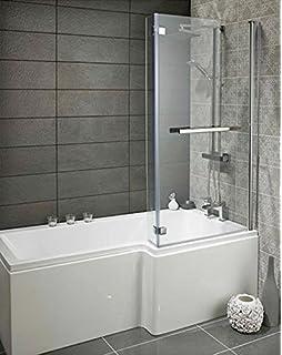 Badewanne mit Duschzone MSDW02: Amazon.de: Baumarkt | {Badewanne mit dusche 21}