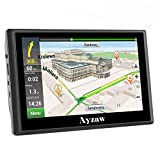 Ayzaw Car GPS Navigation 7-inch Portable Vehicle Navigator 733 with Voice Reminding,Driver alert,Lifetime Maps