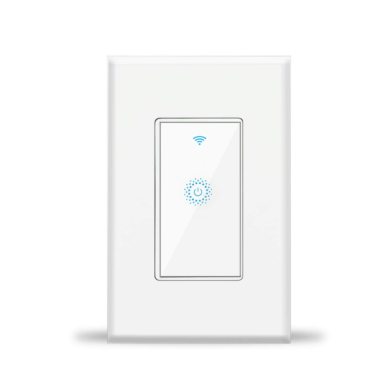 Wifi Light Switches Smart Switch, Wireless remote control, White Neutral Wire Required, Smart Hub for Light bulbs, Compatible with Amazon Alexa, Google Home and IFTTT