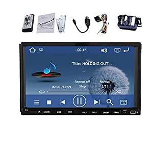 """Pupug 7 """"doble 2 En Dash din Win8 USB SD Doble 2 Din AUX in / out Autoradio GPS Bluetooth LCD Monitor AUX / salida est¨¦reo de iPod Video Player"""