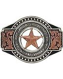 Montana Silversmiths Men's Two Tone Open Texas Ranger Star Attitude Buckle - A571