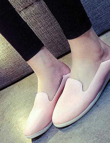 ZQ gyht Zapatos de mujer - Tacón Plano - Bailarina - Mocasines - Exterior / Vestido / Casual / Deporte - Semicuero - Rosa / Blanco / Plata , silver-us8.5 / eu39 / uk6.5 / cn40 , silver-us8.5 / eu39 /  silver-us6.5-7 / eu37 / uk4.5-5 / cn37