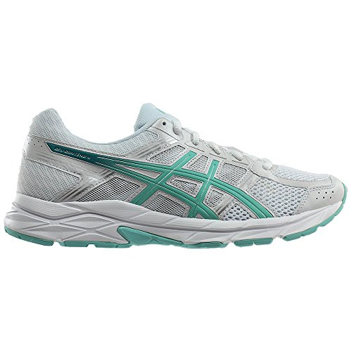 Women's Running 4 SILVER WHITE Gel ASICS BLUE Shoe Contend SqT7Iqdx