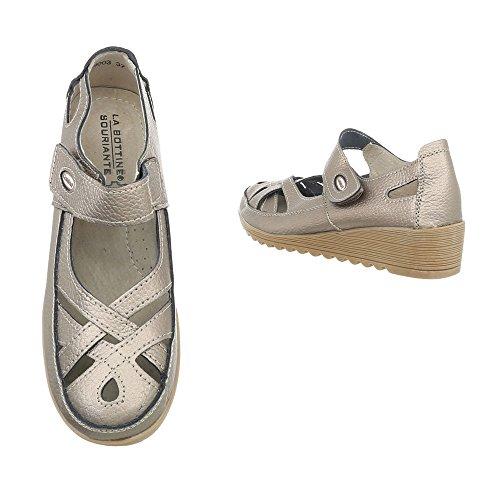 Cuñas de Zapatos Design Zapatos Plataforma 9003 para tacon mujer Ital Bronze 1tEqwY