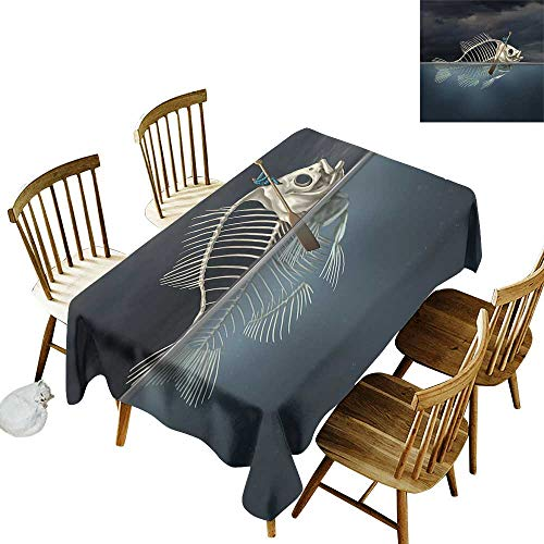 Grid rectangle tablecloth W50
