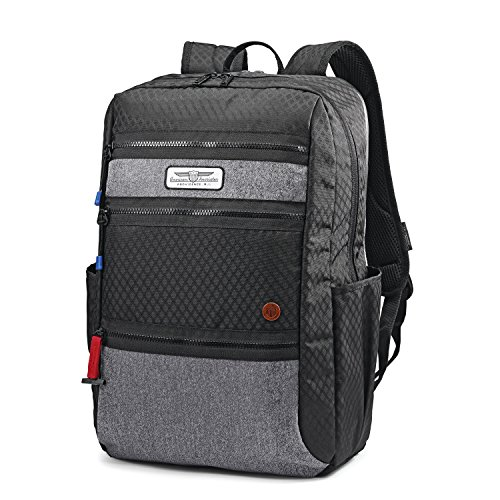 American Tourister Straightshooter Backpack, Black/Grey, One Size