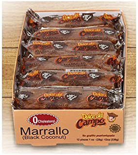Roasted Coconut Candy (Marrallo) Puerto Ricos sweet & chewy native candy - 1 oz