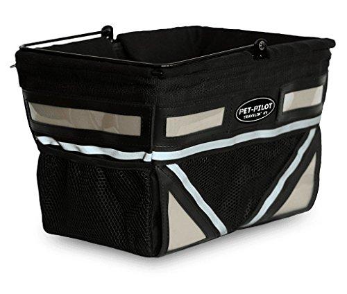 - Travelin K9 2019 Pet-Pilot Original Dog Bike Basket Carrier | 10 Color Options for Your Bicycle (Silver)