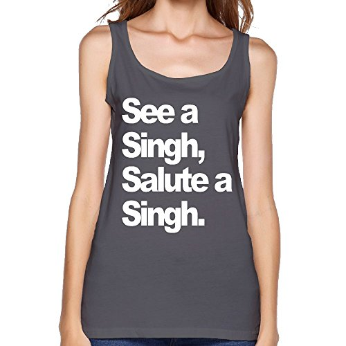 d44d2ce1ee0eb Quliuwuda Women s See A Singh (Deluxe White Print) by HumbleP Classic  Bodybuilding DeepHeather Shirts XXL Tank Tops