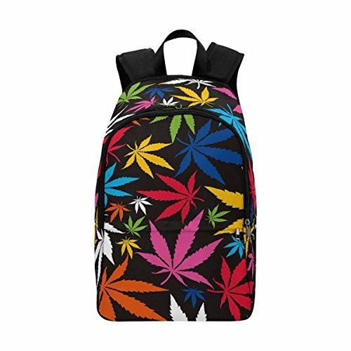 Colorful Marijuana Cannabis Leaf Custom Casual Backpack School
