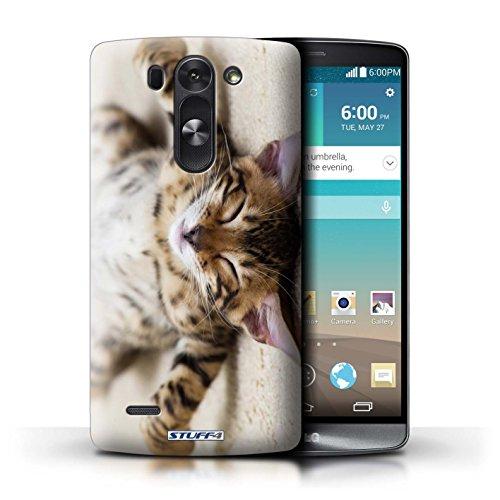 Kobalt® Imprimé Etui / Coque pour LG G3 S (Mini)/D722 / Chaton Parasseux conception / Série Chatons mignons