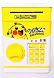 Interestingsport Creative Cartoon Pikachu Electronic ATM Password Piggy Bank Coin Bank Money Banks Cash Coin Can for Kids