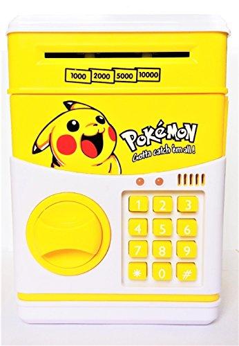 Interestingsport Creative Cartoon Pikachu Electronic ATM Password Piggy Bank Coin Bank Money Banks Cash Coin Can for Kids