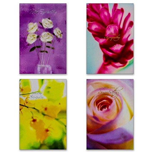 12 Sympathy Cards with Envelopes - Boxed Enclosure