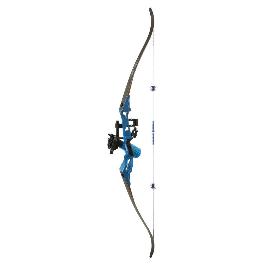 Fin-Finder Bank Runner Recurve Winch Pro Pkg 35lbs. RH Blue