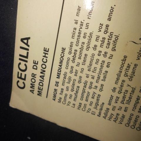 Cecilia, Calderon, Sobredo - Cecilia, Amor de Media Noche, LP Vinyl - Amazon.com Music