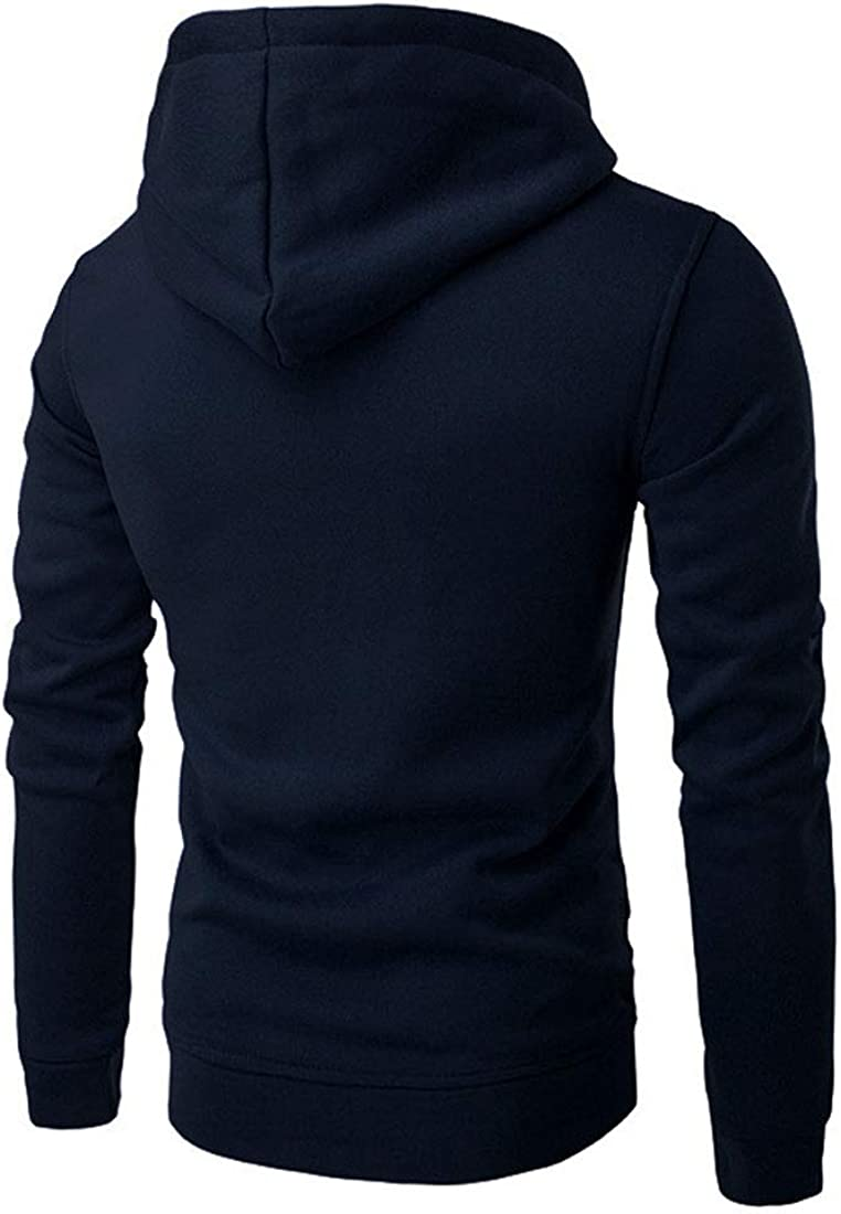 Nidicus Mens Pure Color Basic Casual Hoodie