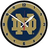 NCAA 2765011 Notre Dame Round Wall Clock, 12.75''
